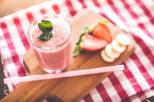 Fresh and Yummy Smoothie with Strawberries & Bananas