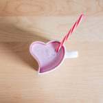 Strawberry Milkshake in Lovely Heart Shaped Cup
