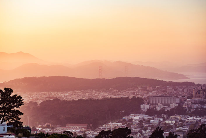 Evening San Francisco Hills
