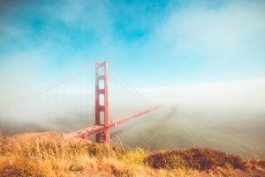 Colorful Golden Gate Bridge